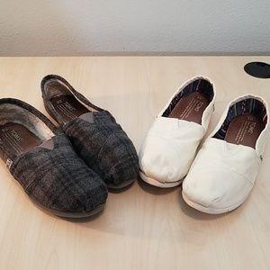 Toms bundle canvas shoes size 8